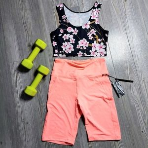 ✨SALE 3/40$✨NEON CORAL SOMMER RAY BIKER SHORTS